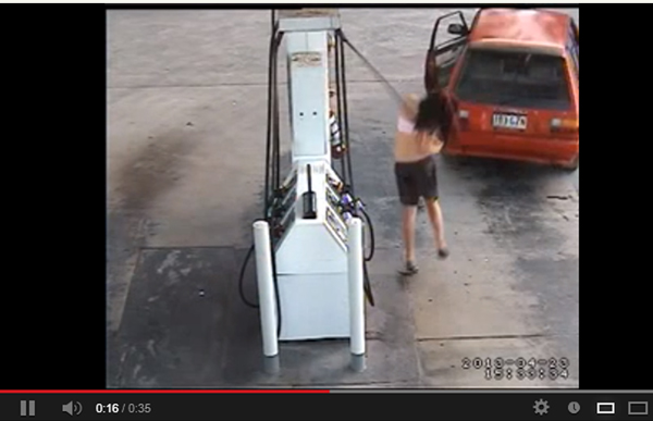 Well, that's one way to steal gas