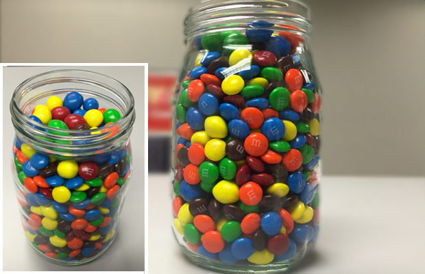 Guess how many M&Ms for Chase Bryant tickets